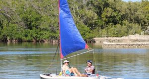 Inflatable-Sail-Catamaran-Paddle-Board-Combo.-Patent-Pending.-Sailing-Stand-SUP-Paddle-Boards.