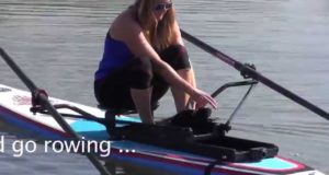 How-to-Setup-an-Oar-Board-Rower-on-an-SUP-at-a-Beach
